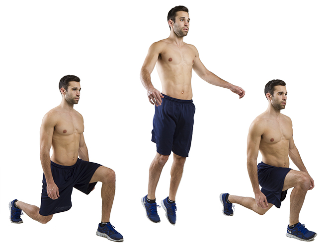 HIIT Exercise: How To Do Alternating Jump Lunges