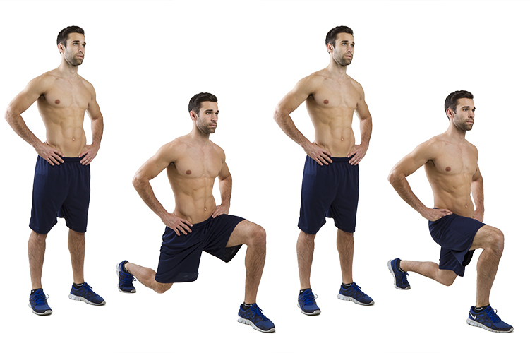 HIIT Exercise: How To Do Reverse Alternating Lunges