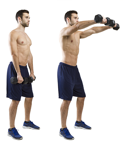 HIIT Exercise: How To Do Front Delt Raises