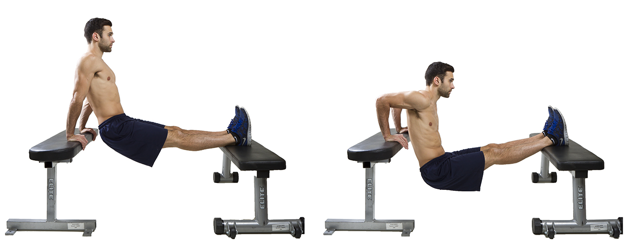 HIIT Exercise: How To Do Feet Elevated Tricep Dips