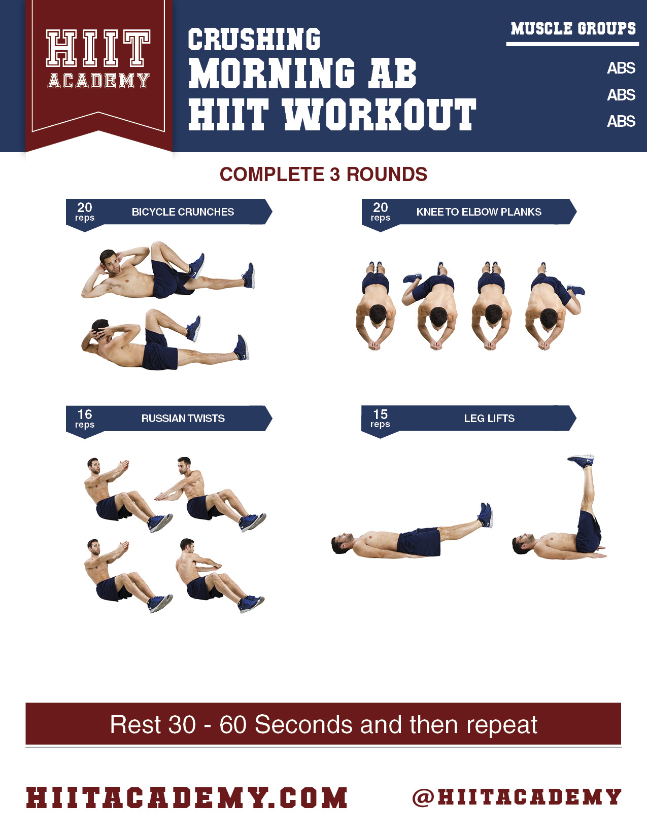 Killer Quick Ab Workout | HIIT Academy | HIIT Workouts ...