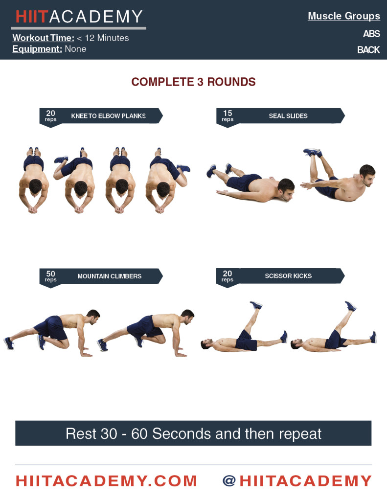 Quick Core HIIT Workout