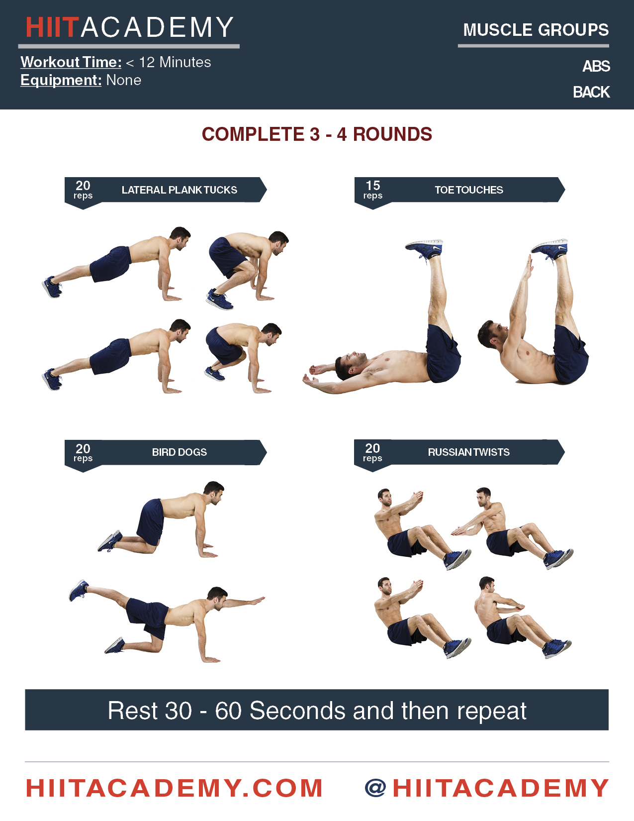 Killer Quick Ab Workout Hiit Academy Hiit Workouts