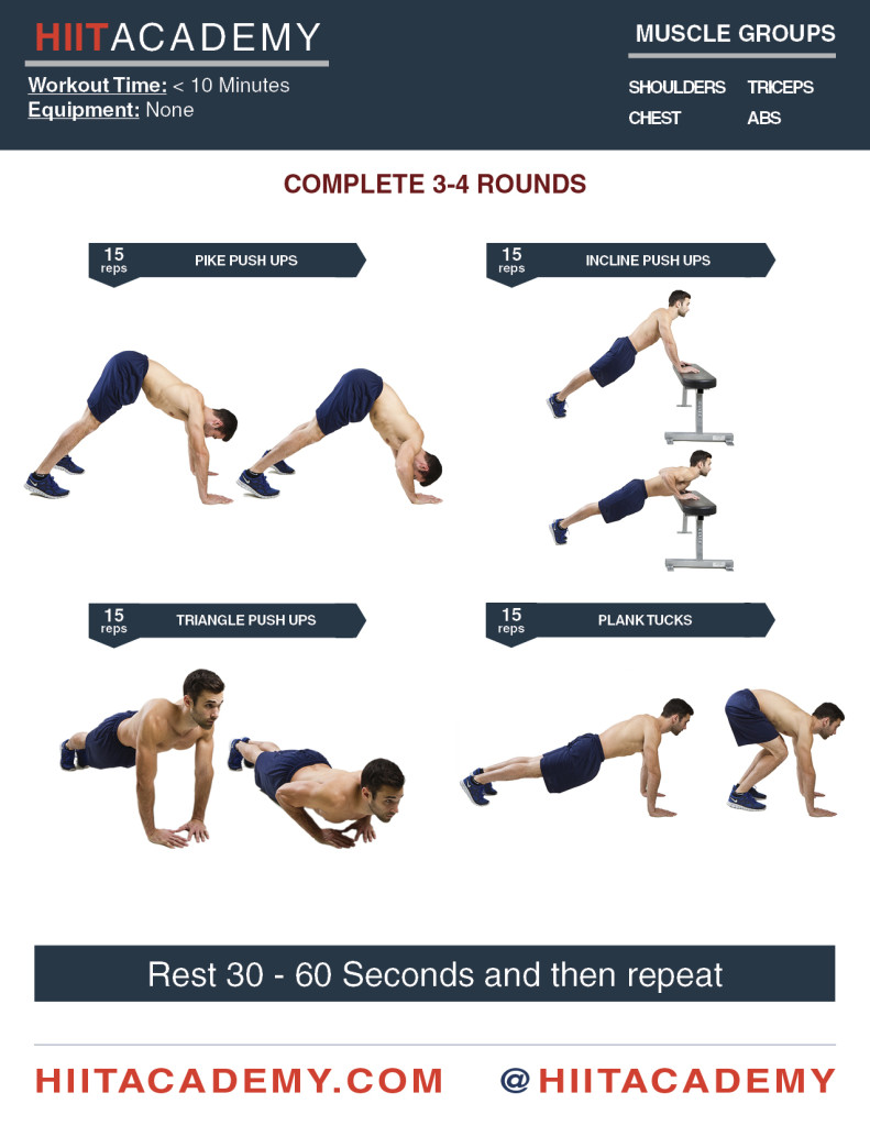 Push Up Pump Up HIIT Workout
