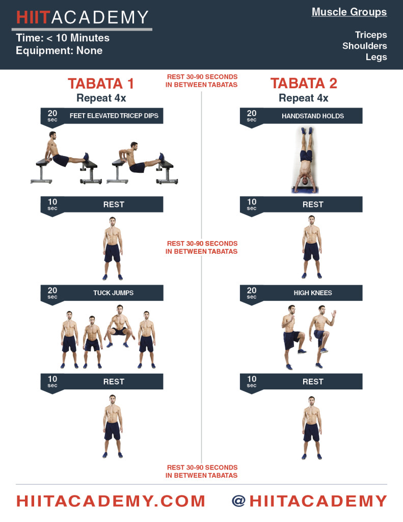 Quick Tricep Shoulder Hiit This Double Tabata Workout Uses Advanced Bodyweight Exercises