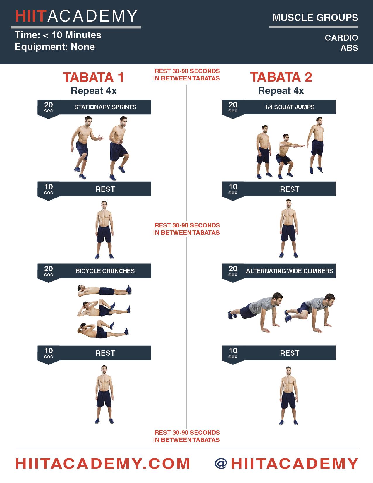 Cardio & Ab Tabata Time