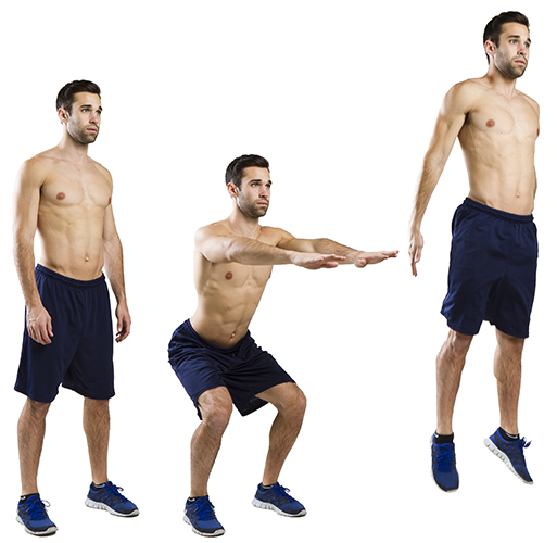 HIIT Exercise: How To Do 1/4 Squat Jumps