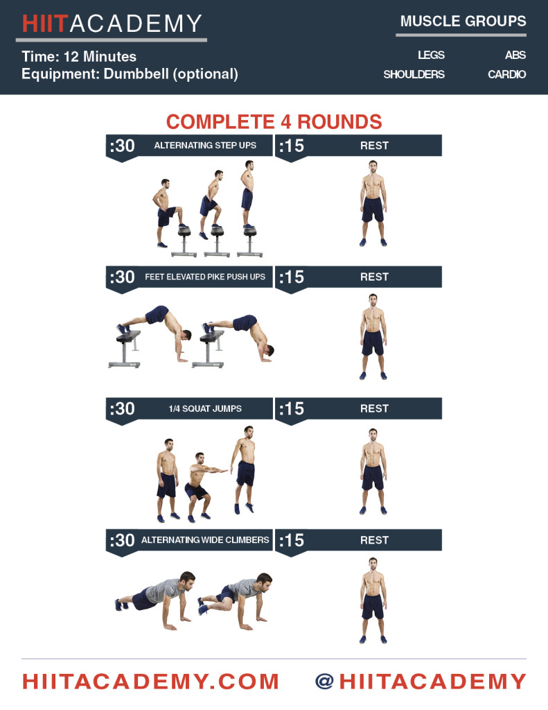 Step Your Workouts Up HIIT Workout