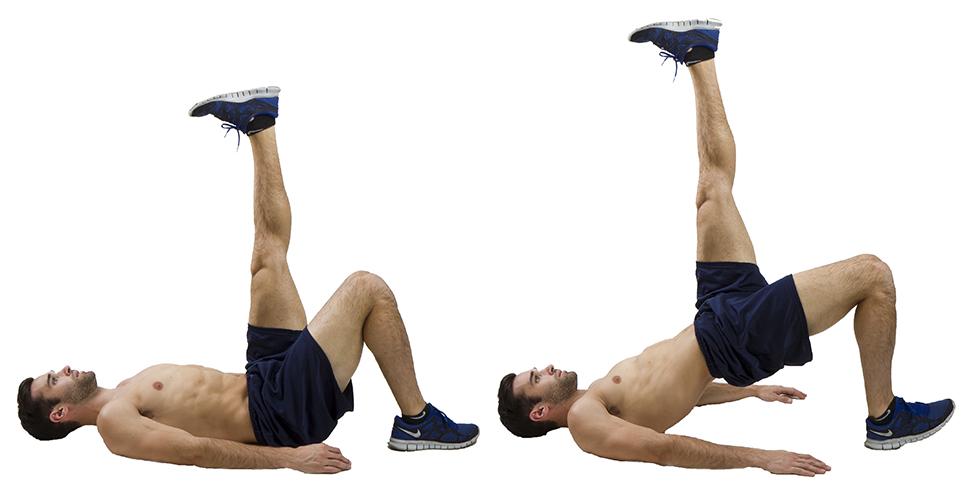 HIIT Exercise: How To Do Single Leg Butt Lift Bridge