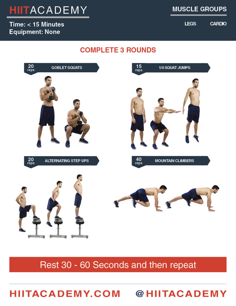 Intense Leg HIIT Workout