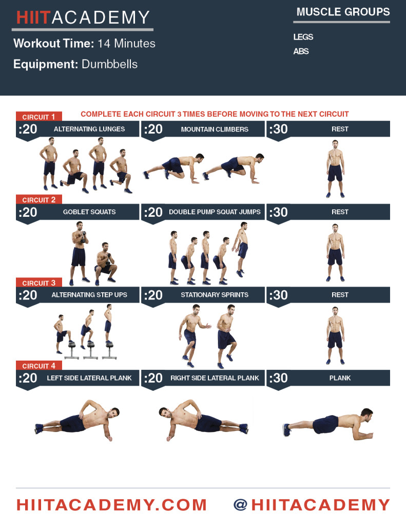 Crushing Leg Ab HIIT Workout