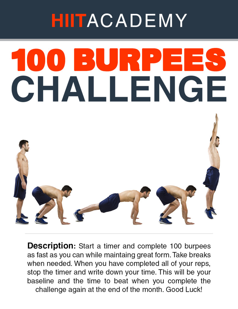 100 Burpee Challenge For Time Hiit Academy Workouts Timers Tabata And Circuit Training Are Included