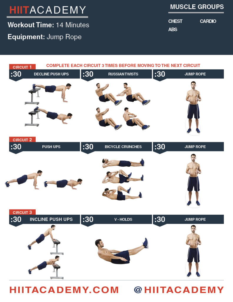 Chest, Ab, Cardio HIIT Workout