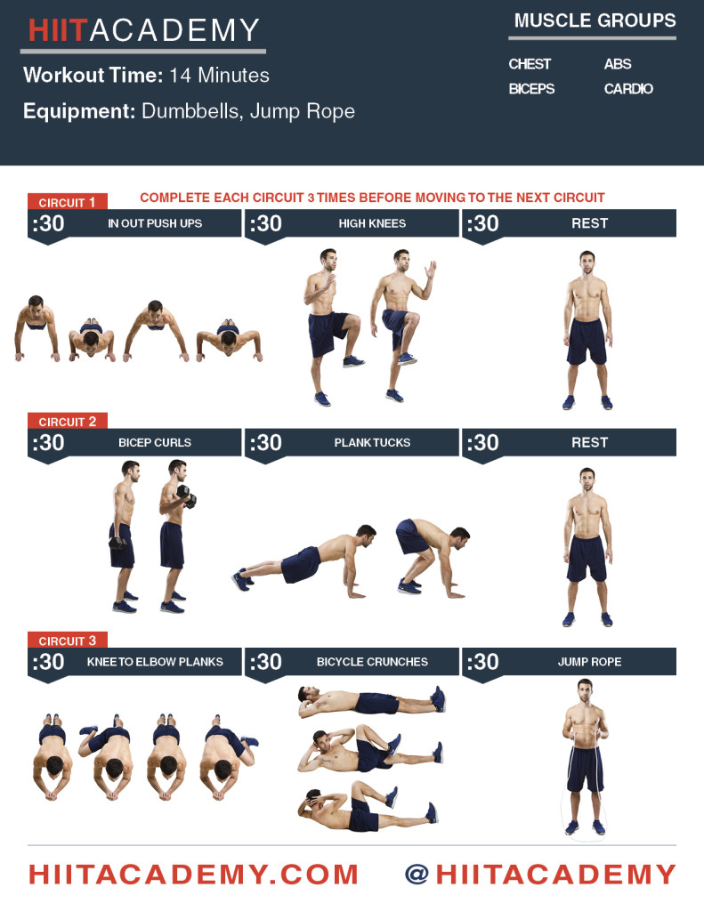 Chest Bicep Ab HIIT Workout Bust Out This Classic Upper Body